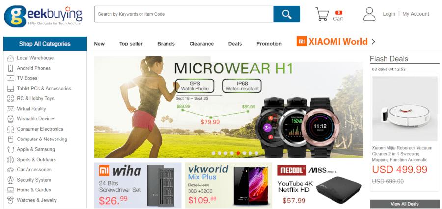 página home promociones geekbuying