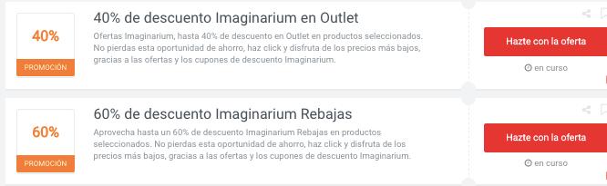 ofertas imaginarium en Picodi México