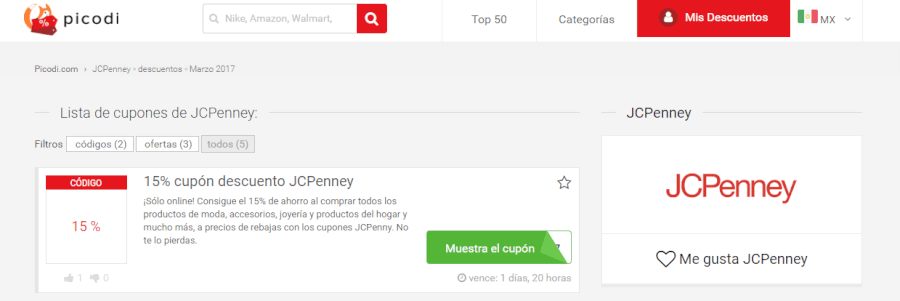 cupones descuento jcpenney