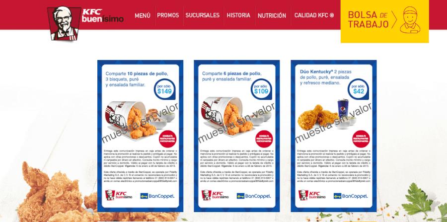 Promociones y ofertas especiales de kfc mexico