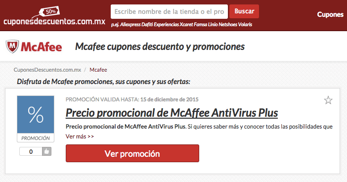 promociones Mcafee