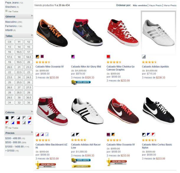 La oferta de Netshoes. Descubre su amplia gama de productos de deporte como zapatos, camisas, blusas.