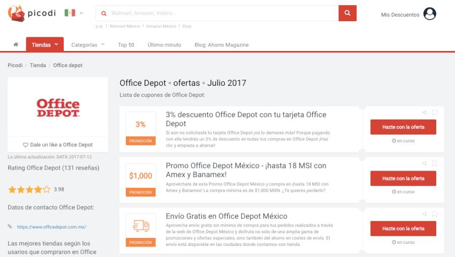 Promoción Office Depot | 50% | Junio 2018 | ¡Benefíciate