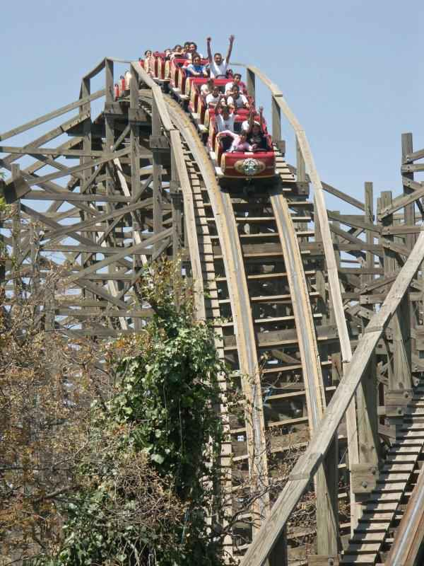 Six Flags Medusa Roller Coaster