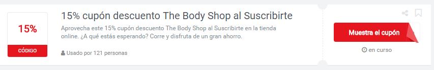 cupones descuento the body shop en México