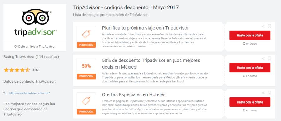 promociones tripadvisor