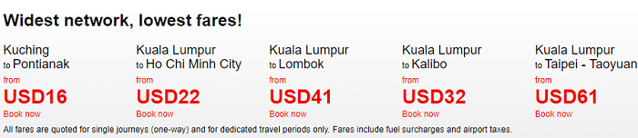 Incredibly low fares