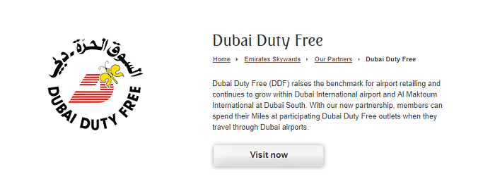 Visit the duty free zone
