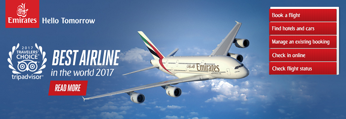Check out Emirates' website for great deals
