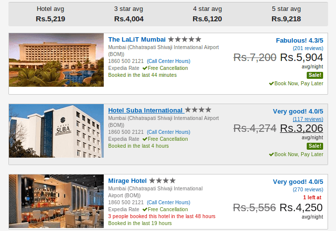 Search for hotel deals at Expedia
