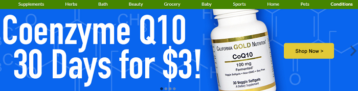 iHerb's main page