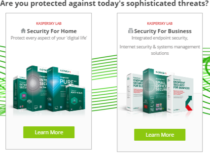 Types of products available at Kaspersky