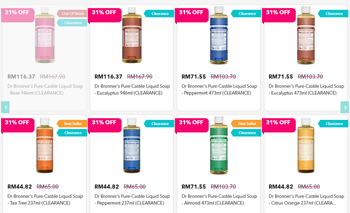 Dr. Bronner products