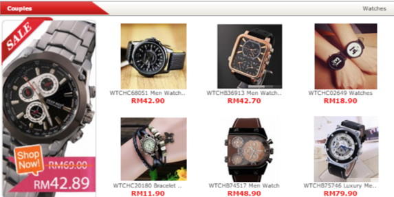 Discounted watches available at Nile