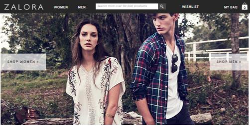 Zalora homepage offer