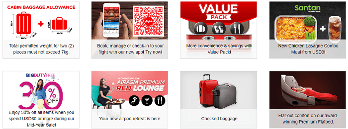 Features available at AirAsia