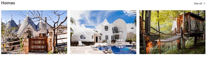 Homes at Airbnb