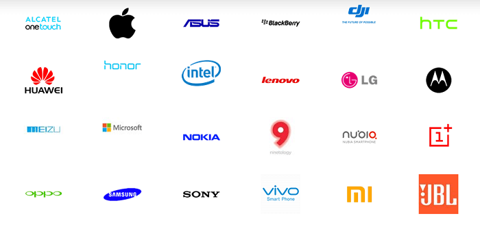 The list of manufacturers