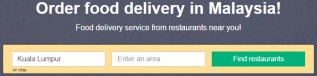 Foodpanda - selecting city