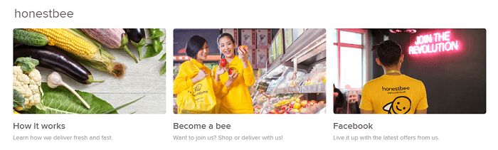 Get social with Honestbee