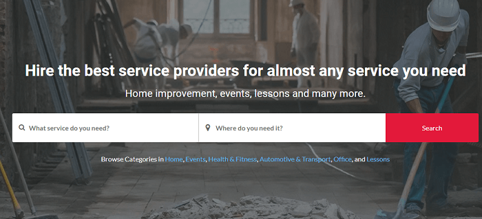 Find a service provider with Kaodim