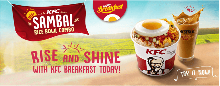 Have our breakfast at KFC