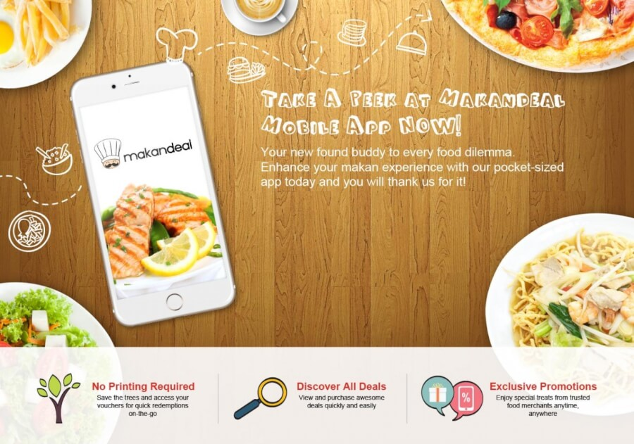 Special deals available for Makandeal mobile app users