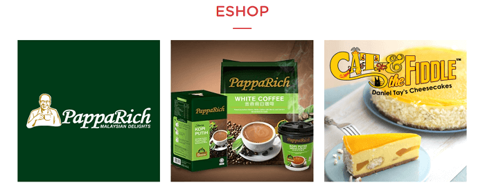 Pappa Delivery's e-shop
