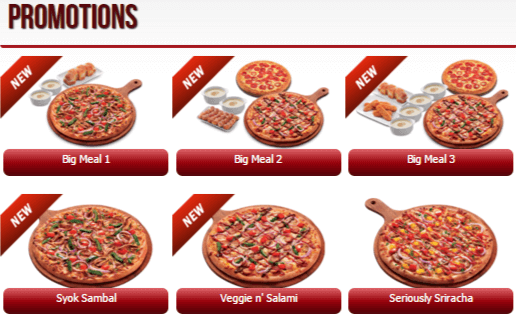 Pizza Hut Full Menu
