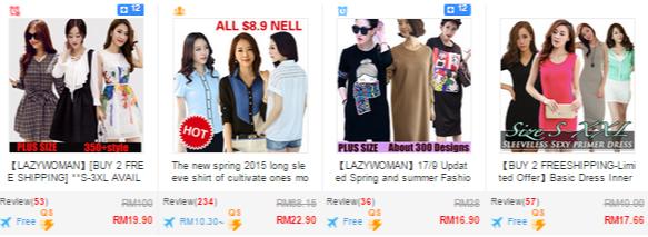 Clothing deals at Qoo10