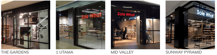Solewhat's stores
