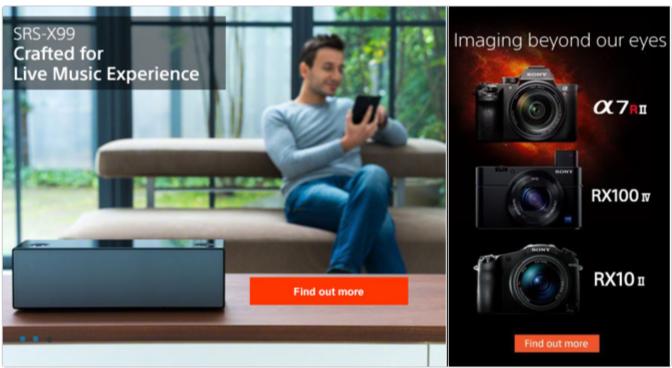 Sony offer on cameras