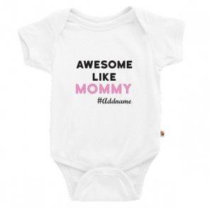 Awesome Like Mommy customized shirt at Teezbee