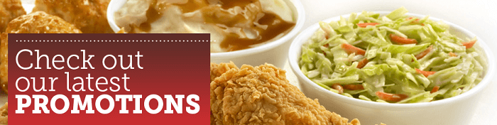 Promotions available at Texas Chicken