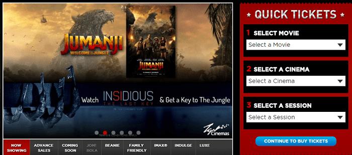 Browse movies at TGV Cinemas website