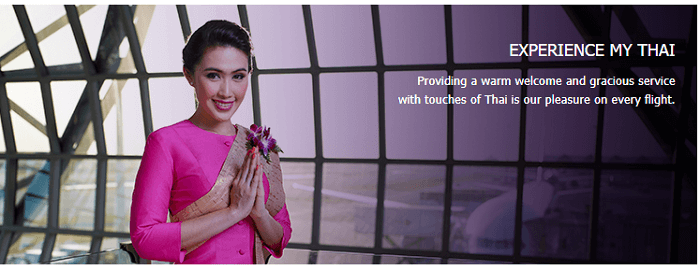 Experience flying with Thai Airways