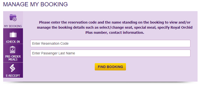 Manage your booking easily