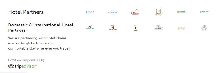 Hotel partners of Traveloka