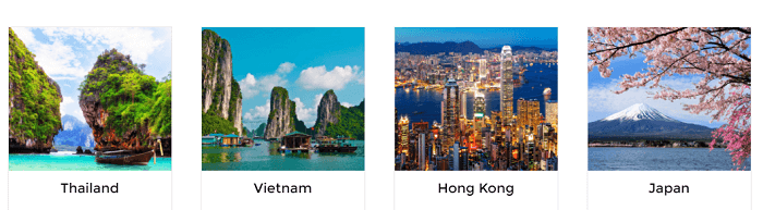 Pick the country you want to visit