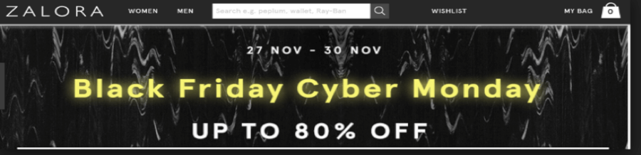Black Friday at Zalora
