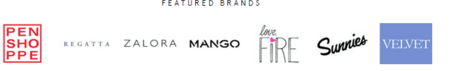 Popular brands available at Zalora
