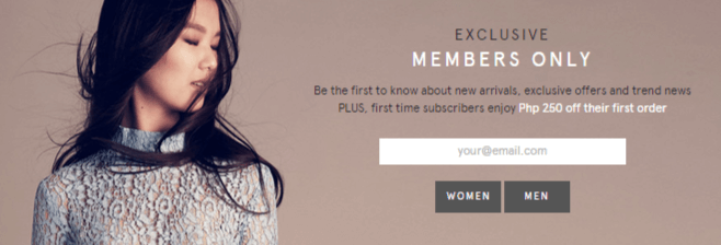 Zalora exclusive member offer
