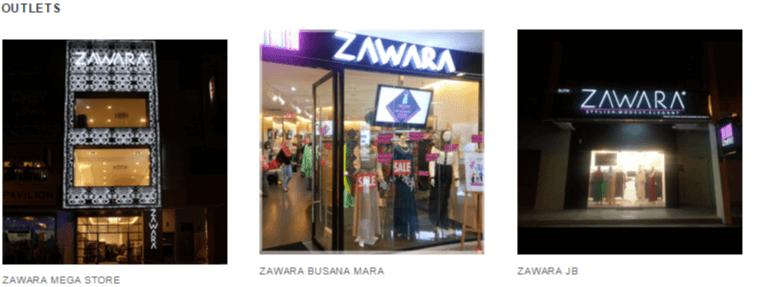 Zawara outlets