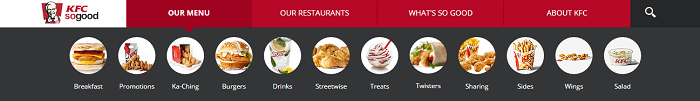 KFC Nigeria menu