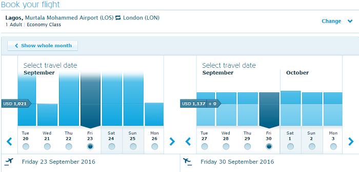 Nigeria Klm flight booking
