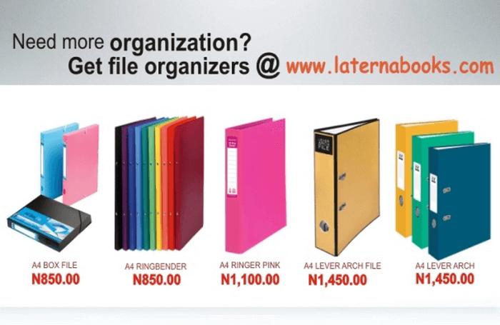 NG Laternabooks organizers