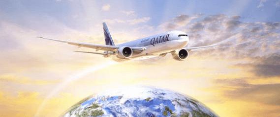 Qatar Airways flight image