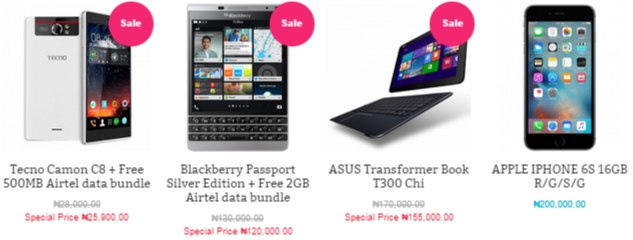 Sale offers available at Slot.ng