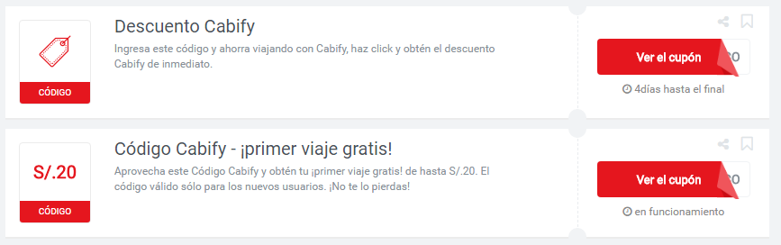 cupones Cabify