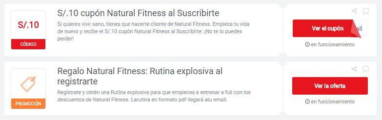 cupón natural fitness